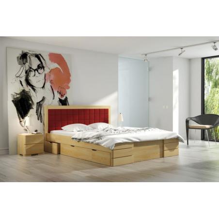 łóżko Sosnowe Visby Gotland High Drawers Z Szufladami