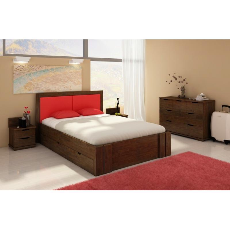 łóżko Bukowe Visby Kronoberg High Drawers Z Szufladami