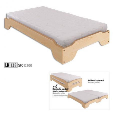 łóżko Drewniane Sosnowe Lk 138 Drewmax