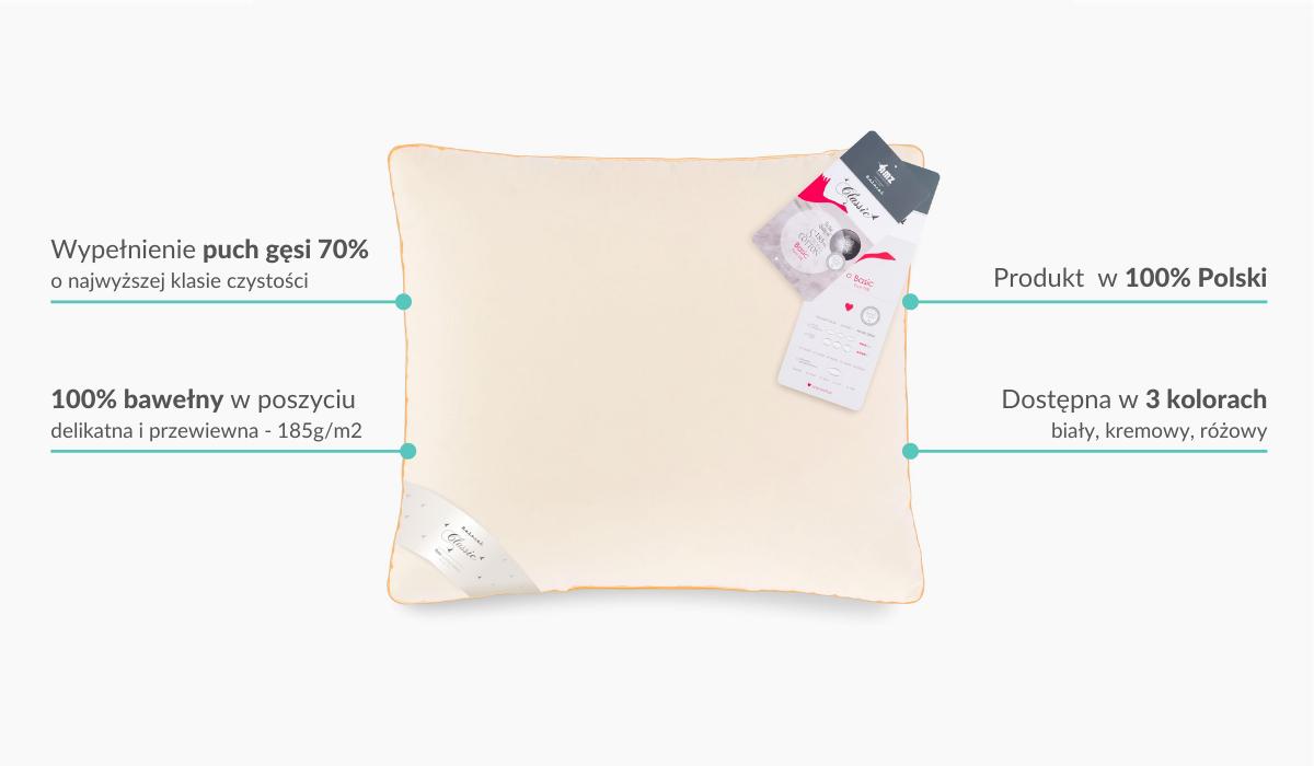 Poduszka puchowa Basic