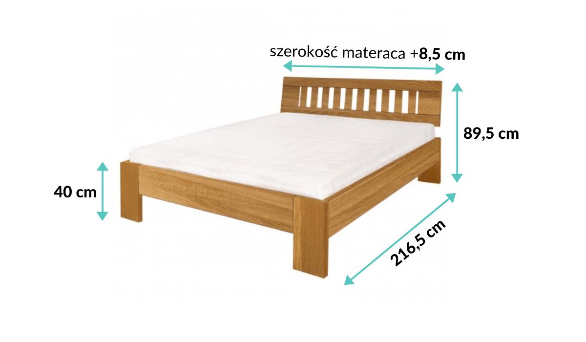 wymiary łóżka olchowego Kadryl 2