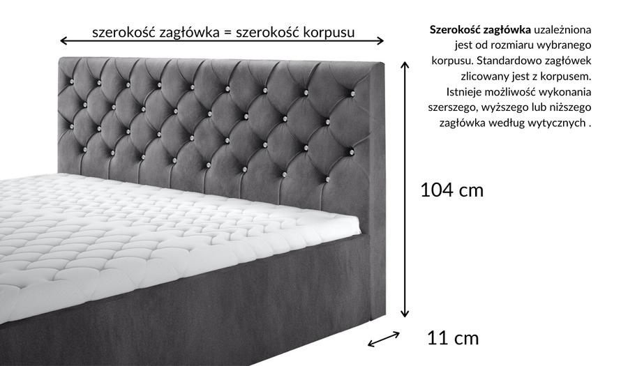Łóżko kontynentalne EXCLUSIVE