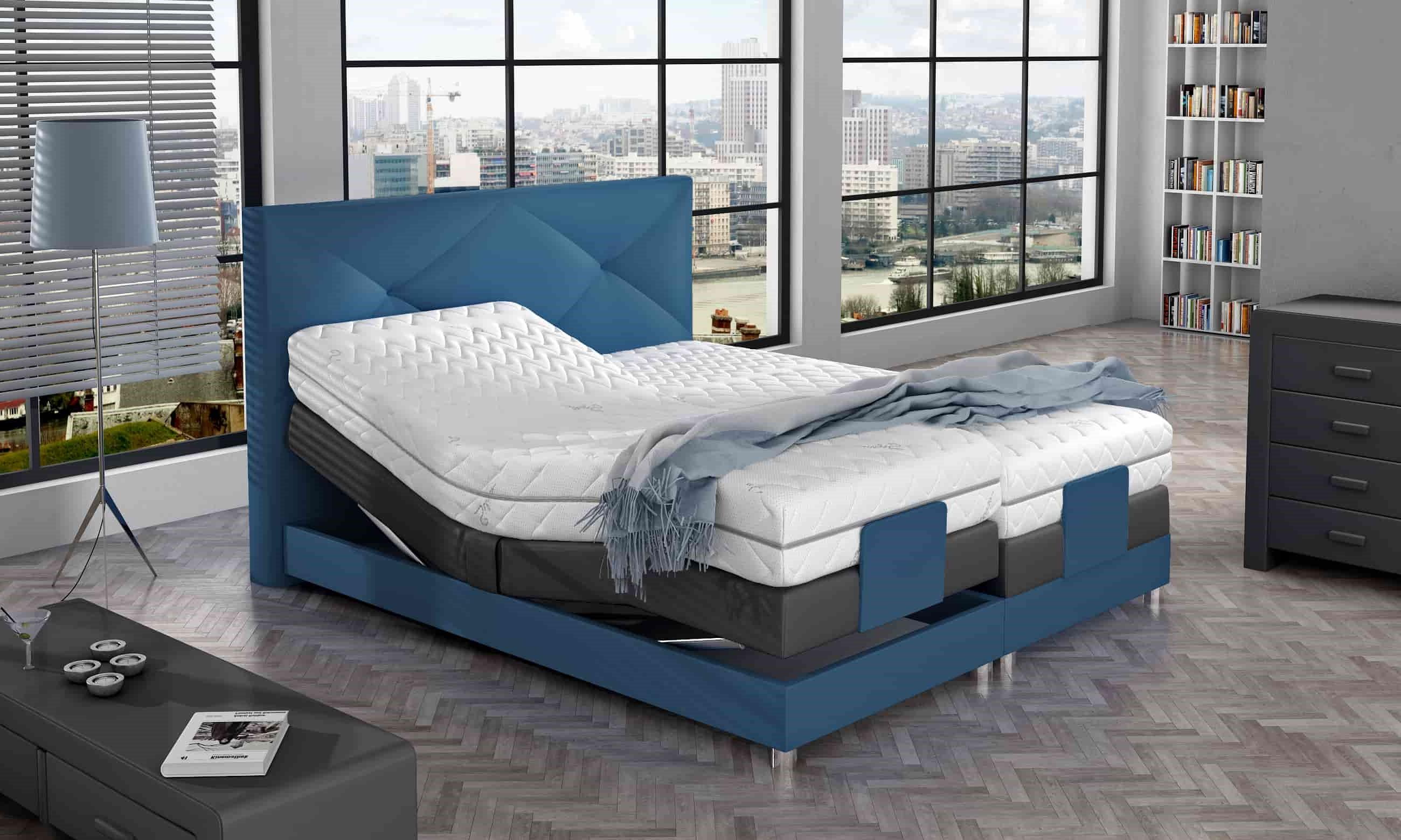 Łóżko kontynentalne MAJESTIC M&K Foam Koło