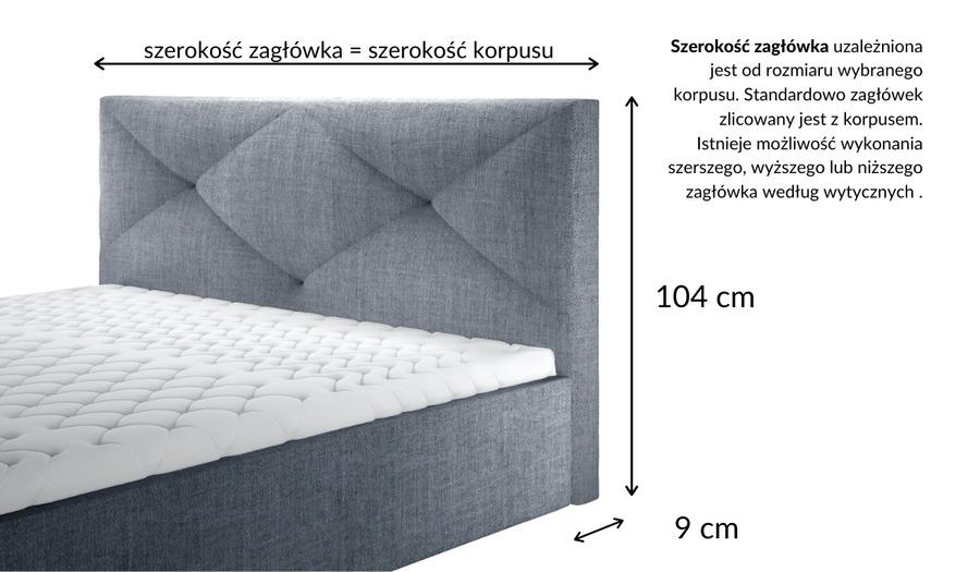 Łóżko kontynentalne MAJESTIC