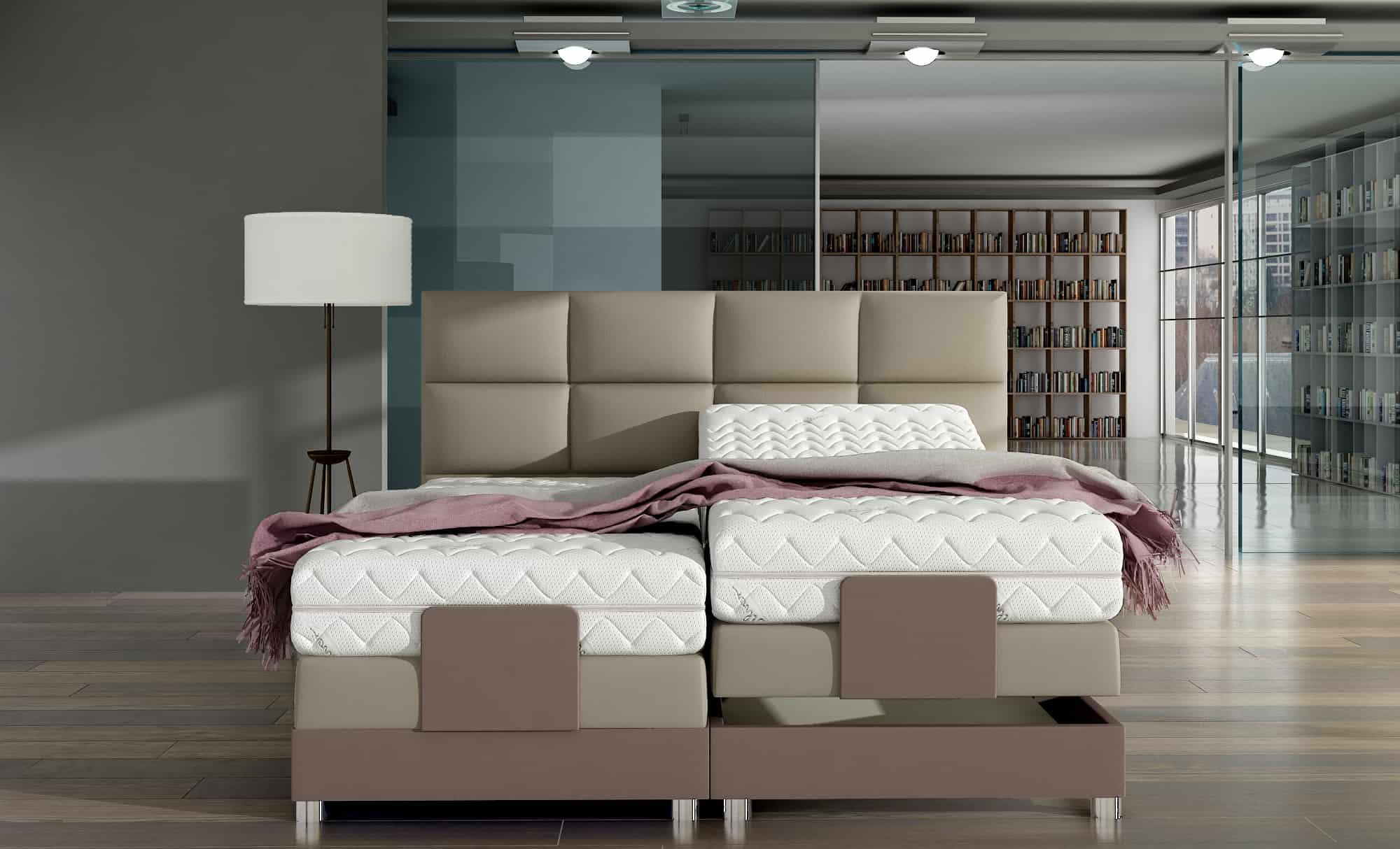 Łóżko kontynentalne ROYAL M&K Foam Koło
