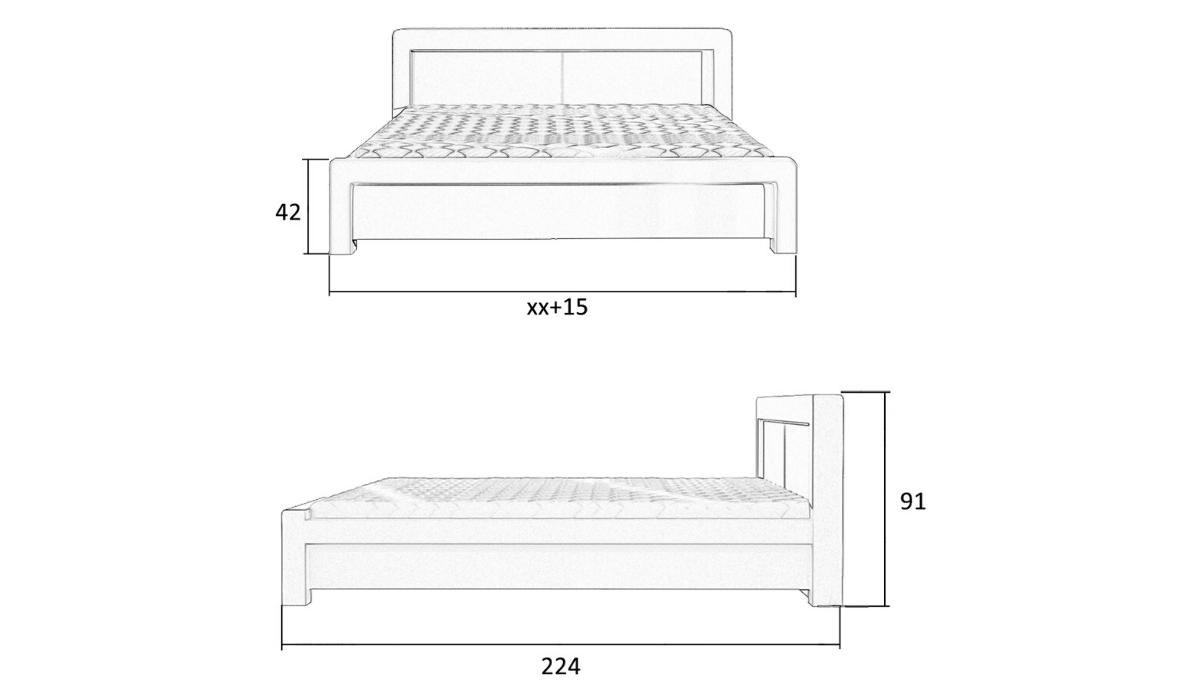 wymiary łóżka 80218